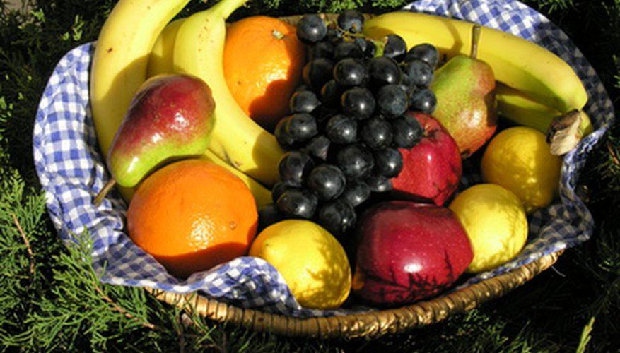 Cestas de frutas caseras