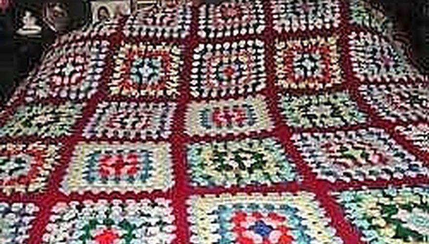 Cómo tejer a crochet una manta de tamaño doble