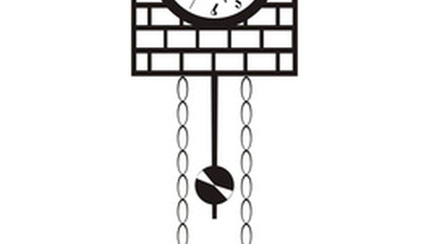 Cómo reparar un fuelle de un reloj de cuco