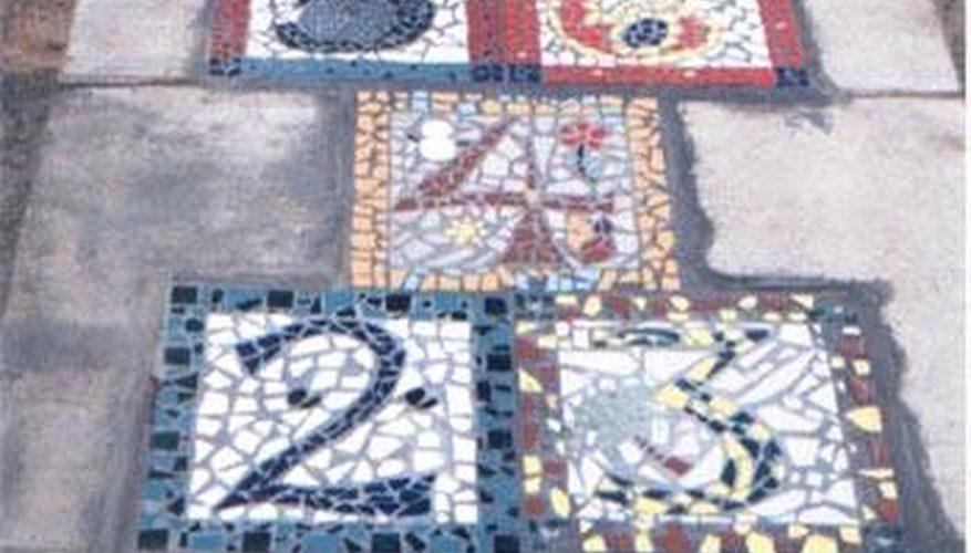 Cómo diseñar un patrón de azulejos y baldosas de rayuela
