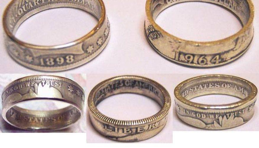 Hacer anillos de monedas de plata
