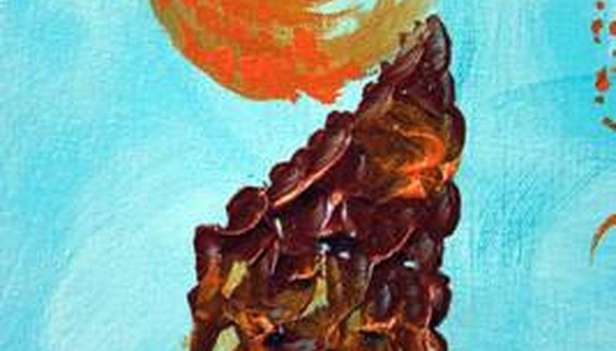 Cómo usar la pintura acrílica artesanal sobre lienzo