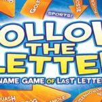 Siga las reglas del juego de letras