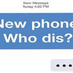 Nuevo teléfono ¿Quién no? Reglas del juego
