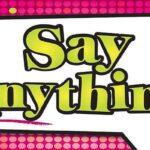 Reglas del juego Say Anything
