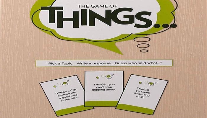 Cosas ... Reglas del juego