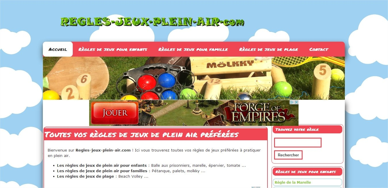 Un nuevo sitio dedicado a los juegos al aire libre