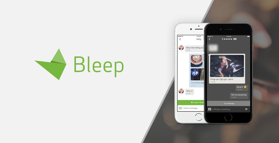 Aplicación de mensajería Bleep en iPhone
