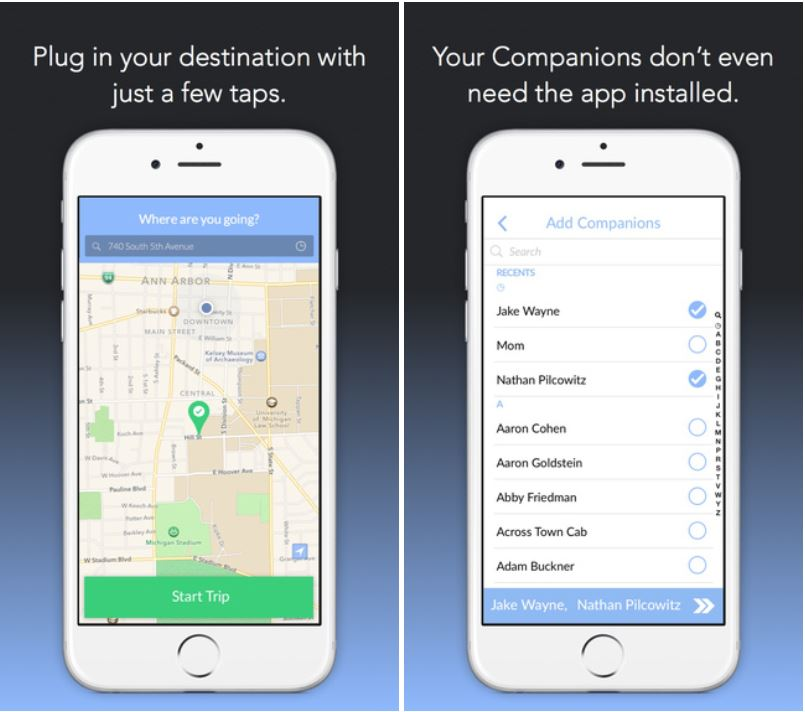 Aplicación complementaria para iPhone