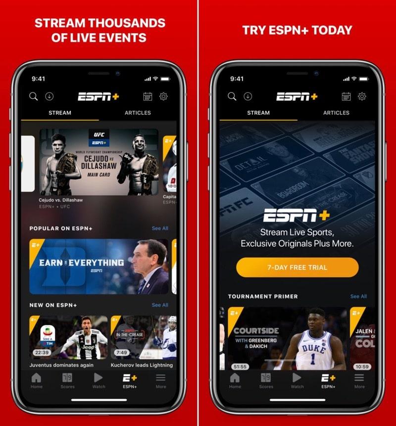 Aplicación ESPN