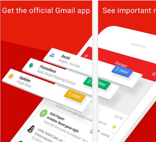 aplicación de gmail para ios