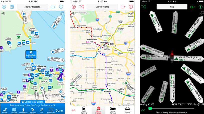 Aplicación Poison Maps para iOS