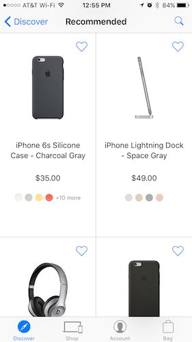 Aplicación de Apple Store para iOS renovada