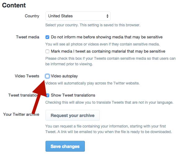 Twitter: contenido de video