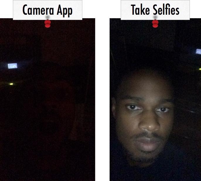 Toma selfies con una cámara