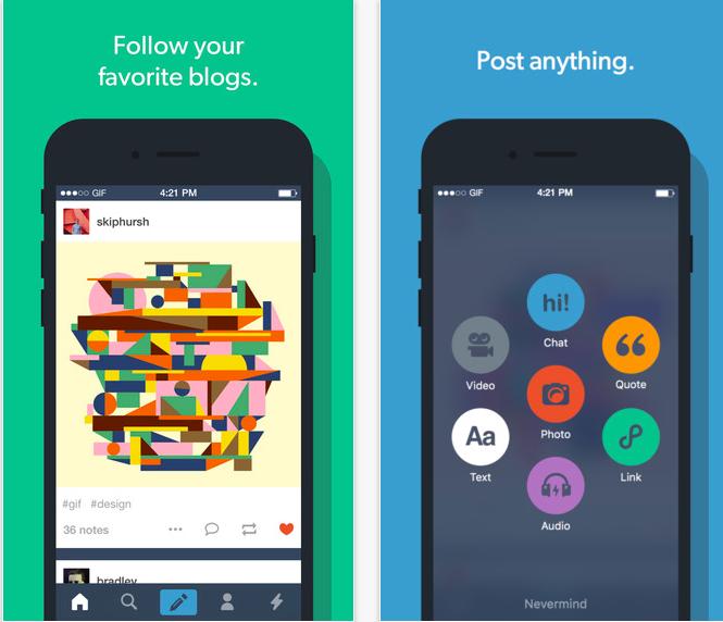 Aplicación de Tumblr para iOS