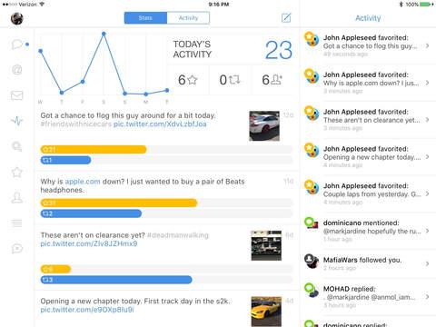 Tweetbot 4 Estadísticas Ver iOS