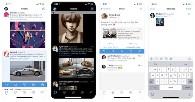 Tweetbot 5 presenta un tema oscuro optimizado para pantallas OLED