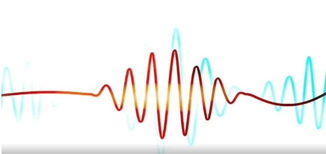 Onda de audio de timbre vocal