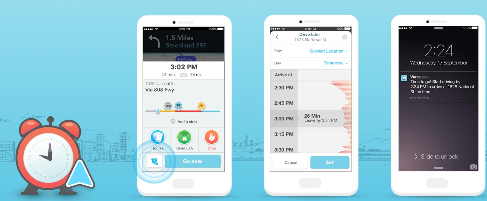 Waze Planned Drive para iOS