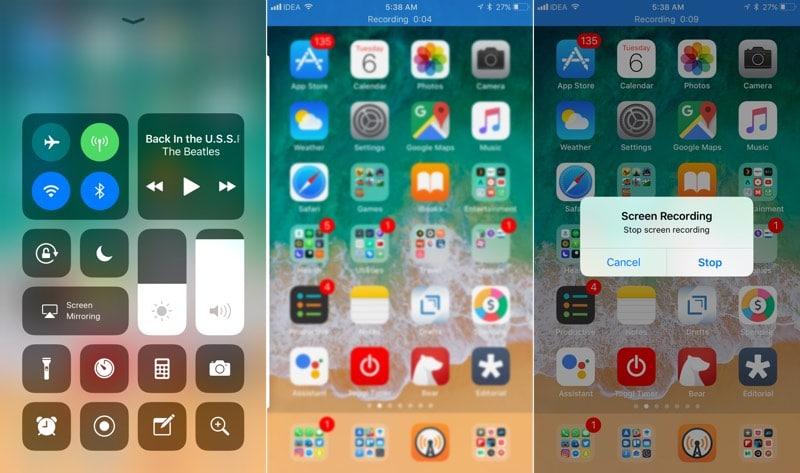 Grabación de pantalla IOS 11