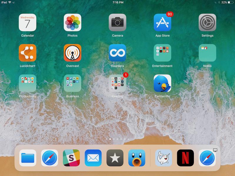 Estación de acoplamiento para iPad iOS 11