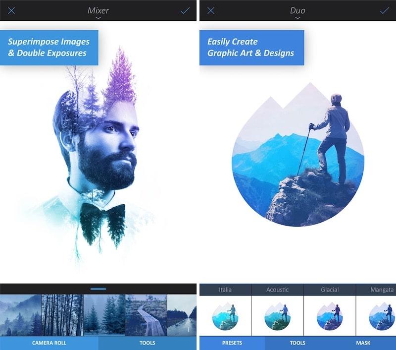 Divertidas aplicaciones de filtro para iPhone Enlight