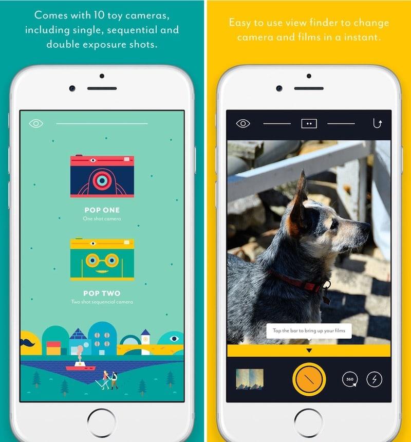 iPhone Fun Filter Apps Cámara emergente