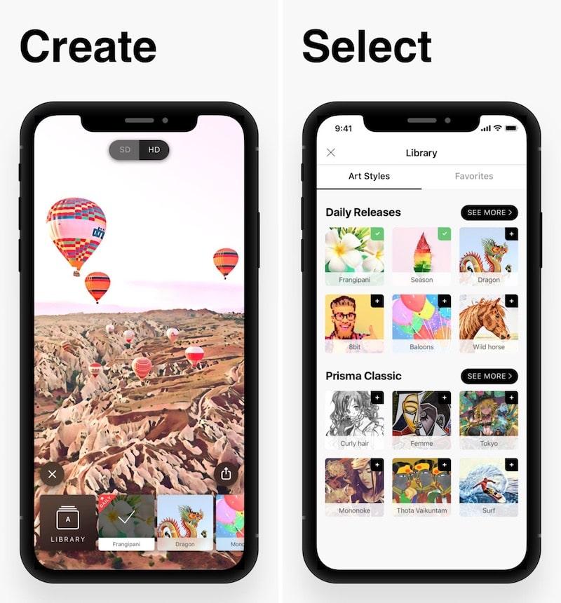 Divertidas aplicaciones de filtro para iPhone Prisma