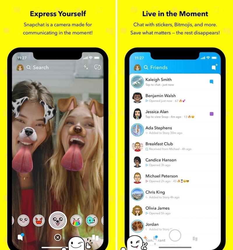 Divertidas aplicaciones de filtrado para iPhone Snapchat