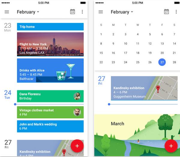 Imagen de Google Calendar para iPhone