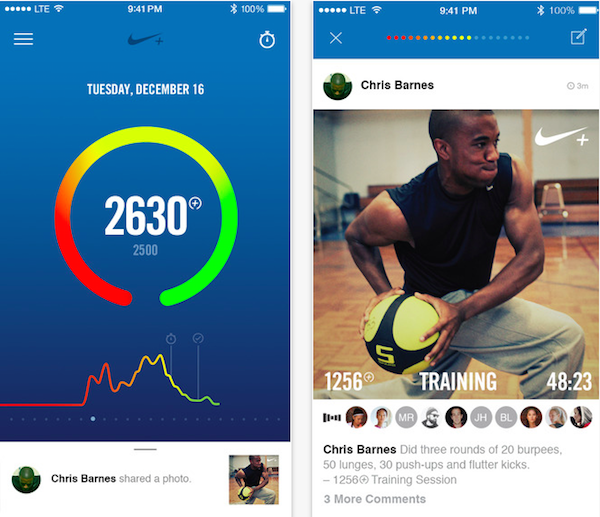imagen Aplicación Nike + FuelBand