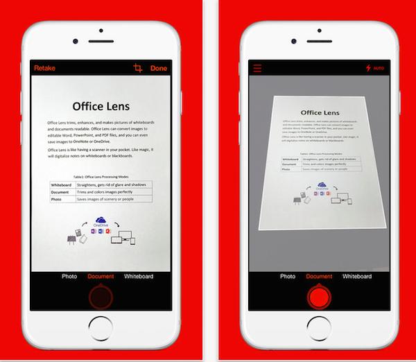 Lente de oficina para iPhone