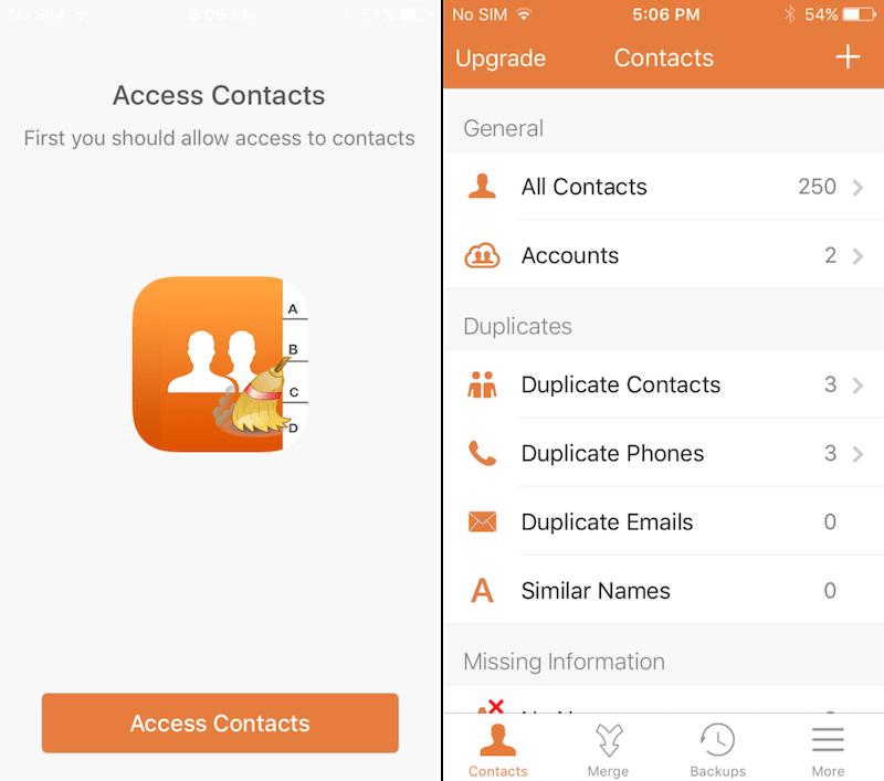 contactos duplicados iphone 5