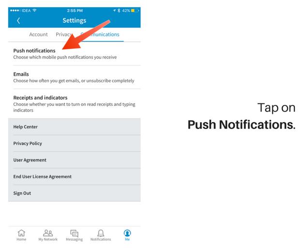 notificaciones de la aplicación linkedin 2