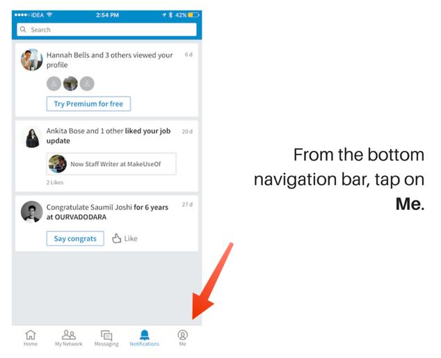 notificaciones de la aplicación linkedin 5