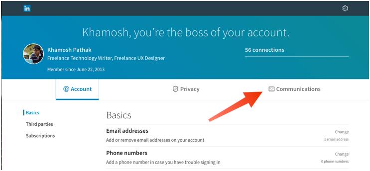 Notificaciones de correo electrónico de LinkedIn 1