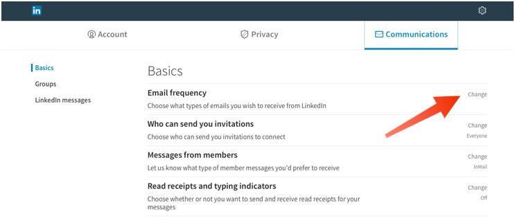 Notificaciones de correo electrónico de LinkedIn 2