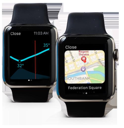 Página de tiempo de Moleskin en Apple Watch