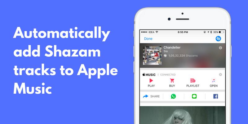 Crea automáticamente una lista de reproducción de Apple Music con Shazam