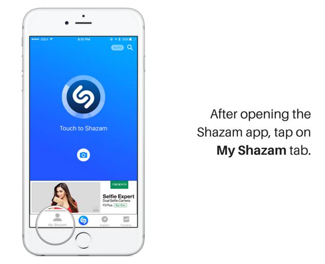 shazam agrega automáticamente 5 canciones