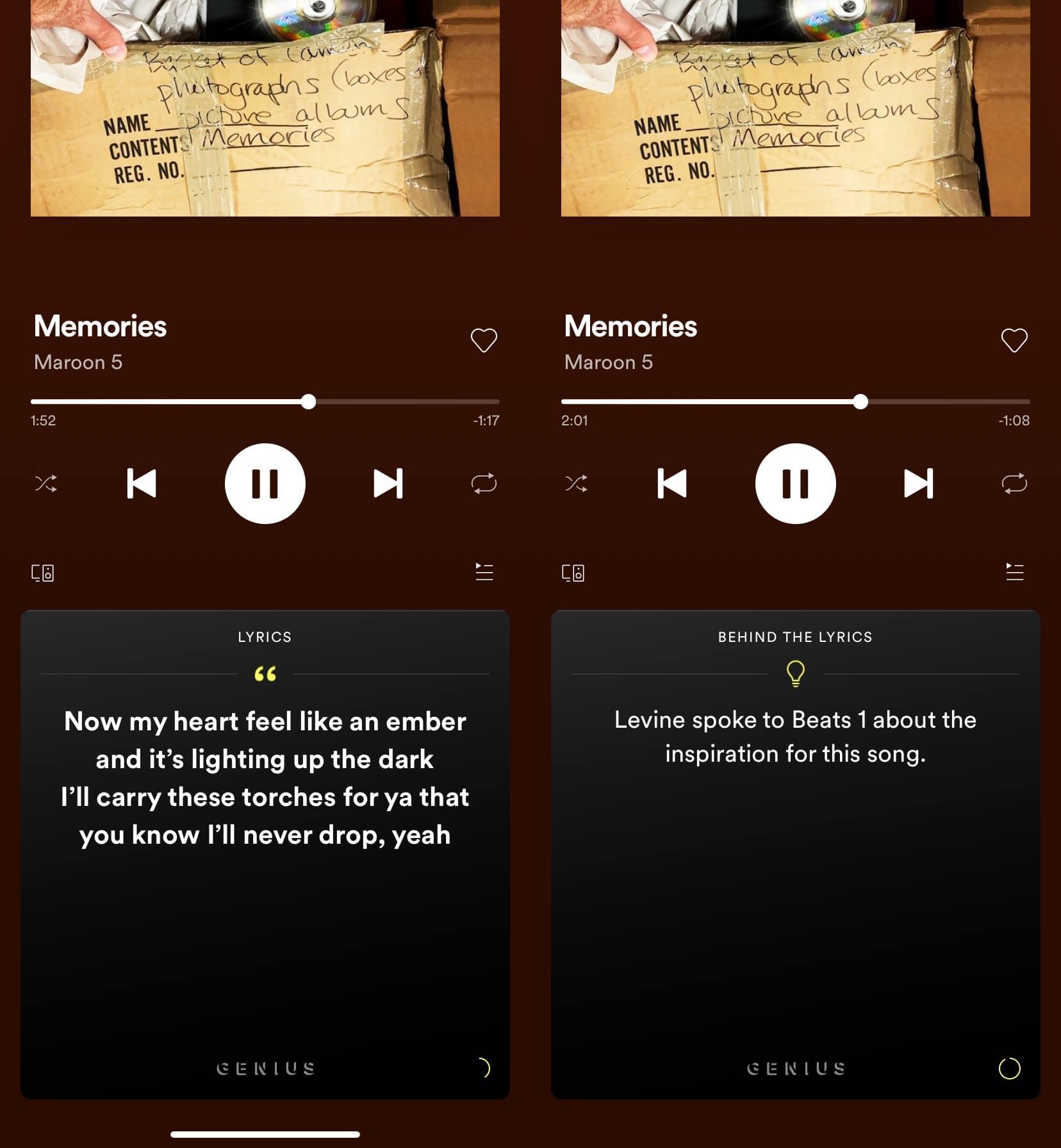 Letras de Spotify