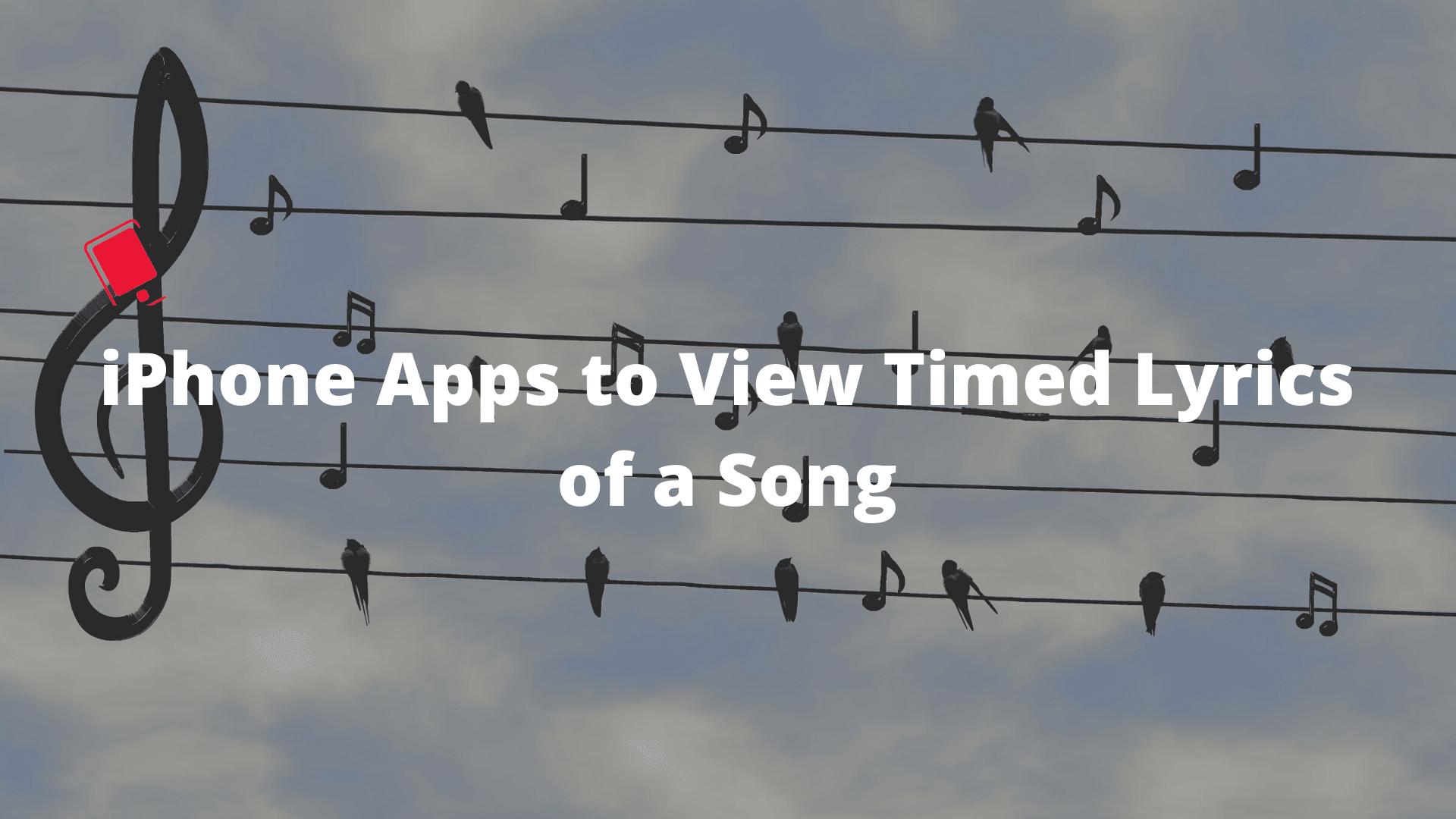 Mostrar la letra cronometrada de una canción