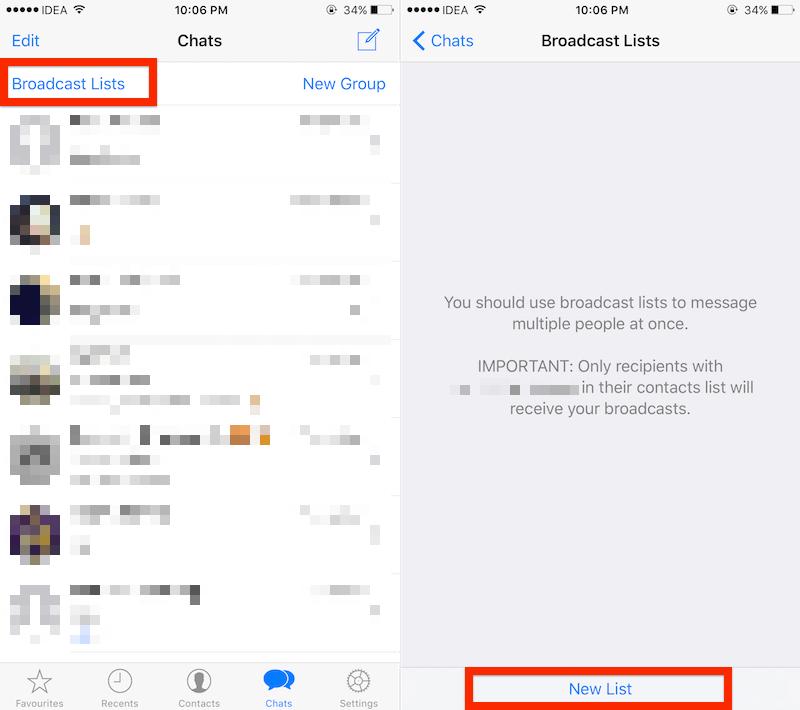 Si desea enviar un mensaje a muchas personas, sin crear un grupo, puede usar la opción Transmitir.