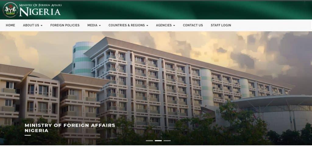 Portal de contratación del Ministerio de Relaciones Exteriores para la actualización de solicitudes 2021/2022
