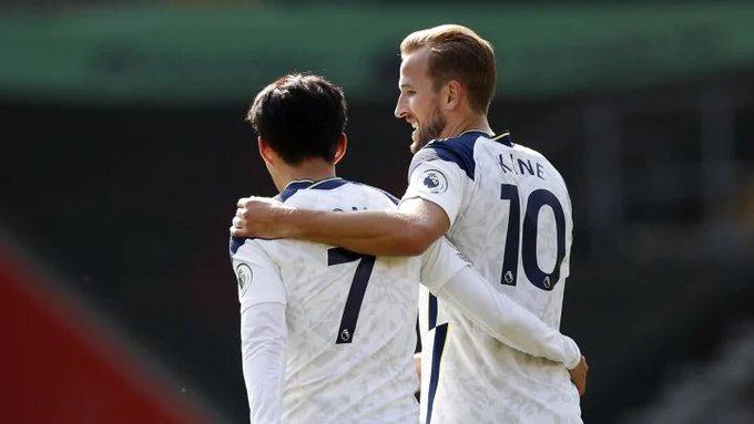 Harry Kane y Son Heung-Min del Tottenham