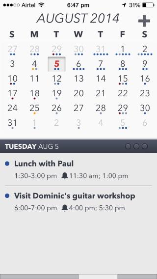 Agenda Calendar 4 ofrece muchas opciones de personalización, pero podría estar sujeto a un análisis lingüístico y una mejor gestión de la programación.