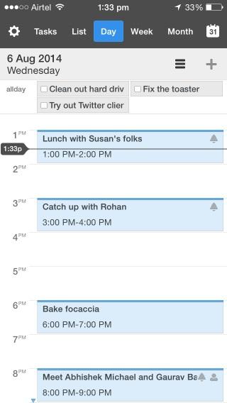 Calendarios 5 ofrece la mayor cantidad de tipos visualización de todos los calendarios que hemos visto