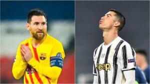 Messi y Ronaldo, ambos ausentes de cuartos de final de la UCL: primera vez en 16 años