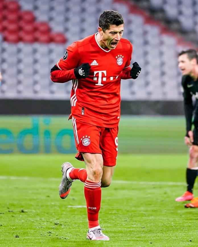 Robert Lewandowski del Bayern de Múnich